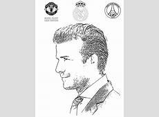 Coloriage Football : David Beckham 1