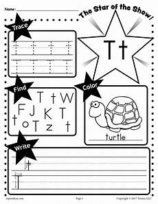 free letter t worksheet tracing coloring writing more supplyme