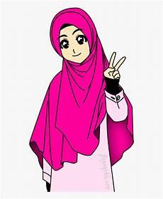 Muslimah Islamiah Muslim Animasi Gambar Kartun