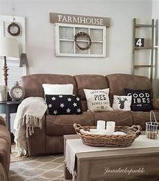 Home Decor Ideas With Brown Couches by Microfiber Farmhouse Living Room Decor Ideas These