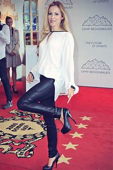Andrea Kaiser Attends At C Beckenbauer Leather