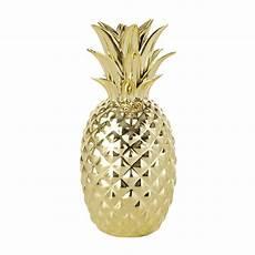 Gold Pineapple Ornament H 23 Cm Maisons Du Monde