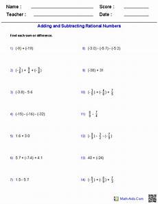 subtracting rational numbers worksheet algebra 1 worksheets basics for algebra 1 worksheets