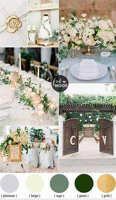 gold and green wedding colours for an elegant fresh natural wedding palette green