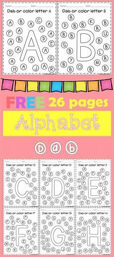 alphabet worksheets for kindergarten a to z free 23438 free alphabet dab a z teaching richarichi products preschool learning preschool