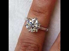 2 carats classical solitaire palladium engagement