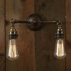 double arm industrial wall light