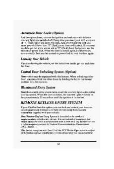 old car owners manuals 1993 cadillac seville security system 1993 cadillac seville problems online manuals and repair information