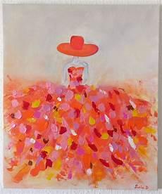 modele de tableau moderne tableau moderne femme robe coloree 13 sur toile format