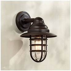 marlowe 13 1 4 quot high bronze hooded cage outdoor wall light 8f957 ls plus