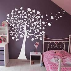 sticker arbre 224 coeurs chambre b 233 b 233 chambre fille