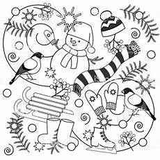 winter coloring pages free 17586 winter coloring pages for and adults stock illustration image now istock