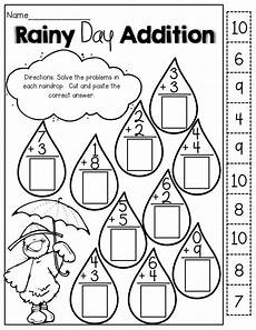 cut and paste subtraction worksheets for kindergarten 10497 pin on education