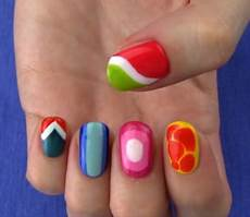 5 nail art designs ideas without any nail art tools