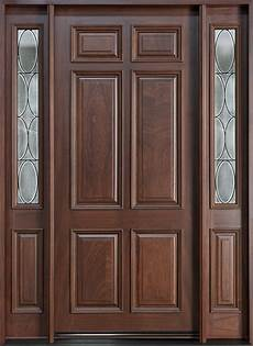 Single Door Doors entry door in stock single with 2 sidelites solid wood
