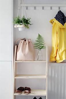 diy ladder shelf shoe storage design sponge