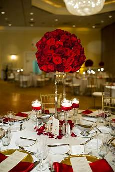 wedding decoration ideas red roses red roses tall centerpiece life s highlights wedding