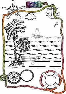 ausmalbilder sommer urlaub ferien strand babyduda