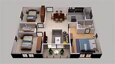 3d floor plan design for small area house plan design 3 bedroom and others youtube