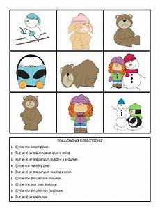 winter themed worksheets pre k 20105 winter theme pre k following directions worksheets by sutherland