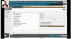 video tutorial how to add a contact form to your website using contact form 7