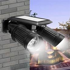 solar powered lights with motion sensor l dual head spotlight led solar ls 14leds wall