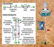 wire single pole switch single pole switch wiring methods electrician101