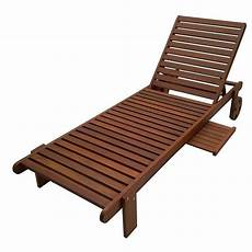 Outdoor Garden Sun Lounger With Wooden Tray Table Buy