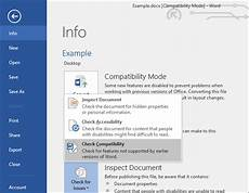 check for open what is compatibility mode in microsoft office