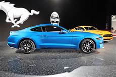 new velocity blue color for the 2019 ford mustang