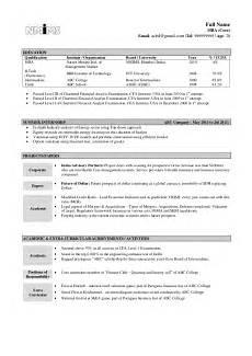 sle resume fresher