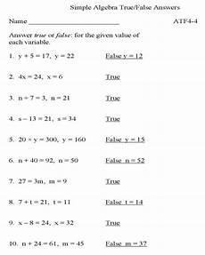 bluebonkers algebra true false p1 solution free printable simple algebra practice worksheets