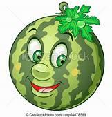 Cartoon Watermelon Fruit Happy