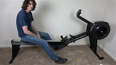 concept 2 model e rowing machine unboxing assembly