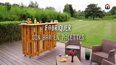 fabriquer un bar en palettes diy