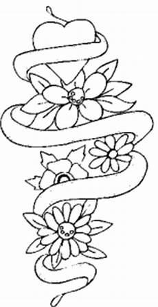 Malvorlage Gratis Liebe Herz Blumen Band Ausmalbild Malvorlage Liebe