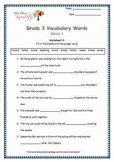 grade 3 vocabulary words and worksheets lets share