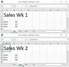 using multiple worksheets and workbooks view multiple worksheets in excel easy excel tutorial