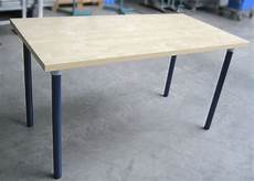 pipe leg diy table build from any wood table top