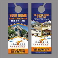 grab my attention with a new door hanger for baker roofing postcard flyer or print contest