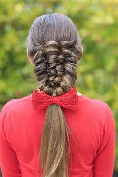 how to create a banded puff braid cute hairstyles