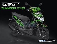 Variasi Warna Motor Beat by Stiker Motor Honda Beat Fi Warna Hijau Modif Prostiker