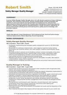 quality manager resume sles qwikresume