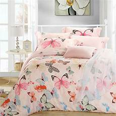 aliexpress com buy luxury butterfly queen king size bedding sets pink quilt duvet cover sheets