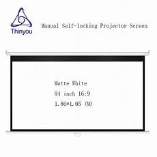 Inch Projector Screen Home Projection Manual by Thinyou 84 Inch 16 9 Wall Mounted Manual Self Locking