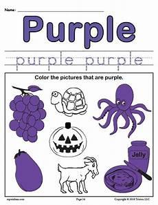 color purple worksheets for kindergarten 12930 free color purple worksheet supplyme