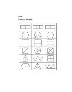blank fraction worksheets 3866 shapes teachervision