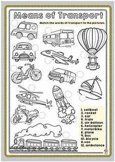 transportation multiple choice b w worksheet transportation theme worksheets