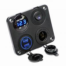 auto usb ladeger 228 t schalter panel led voltmeter 12v
