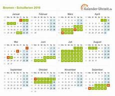 Ferien Bremen 2016 Ferienkalender Zum Ausdrucken